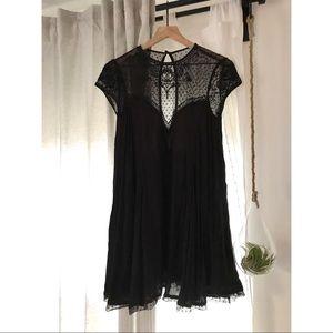 UO Lace Babydoll Mini Dress